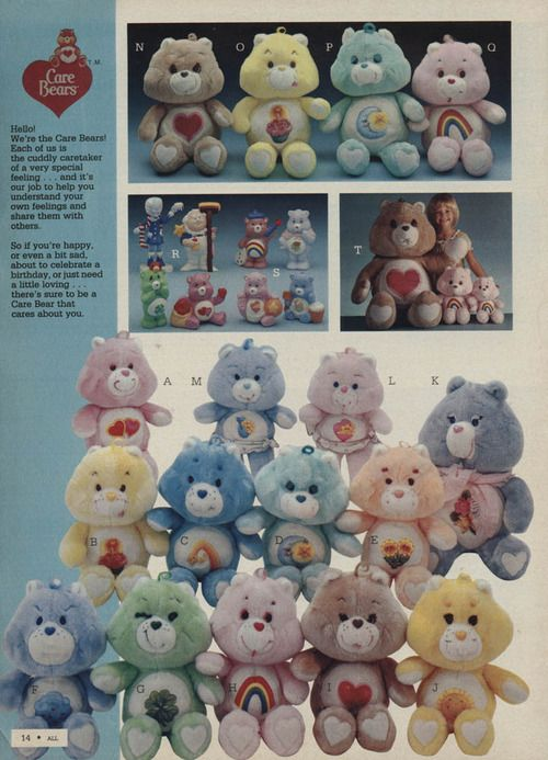Did you know that these things shoot laser beams out of their stomachs? Watch out for those Care Bears. . .
