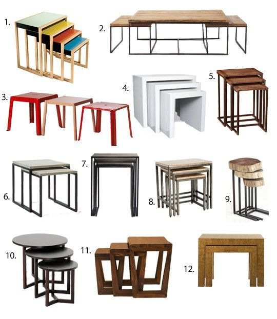 Best Nesting Tables 2013  Apartment Therapy's Annual Guide