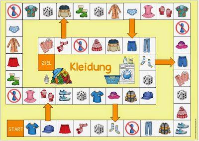 """Ideenreise: Spielfeld """"Kleidung"""" für DAZ"""