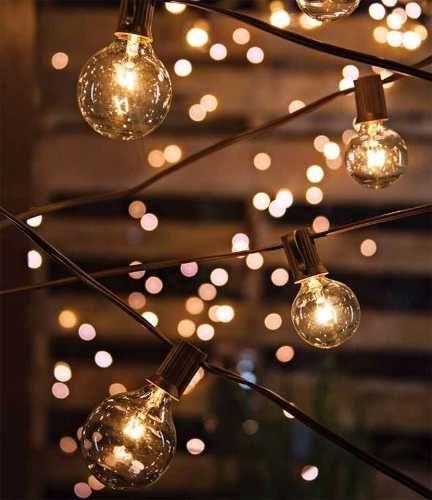 serie de luces focos para jardin exterior y patio