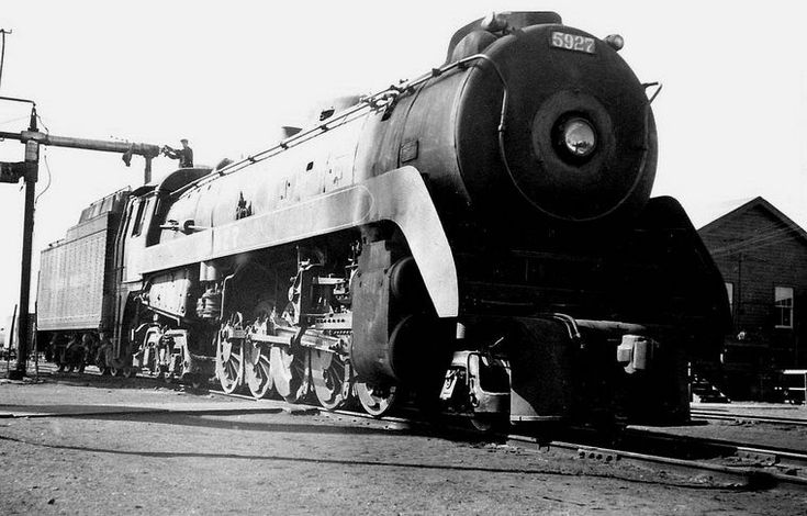 Old Time Trains. This is a Selkirk class 5927, 2-10-4 locomotive.