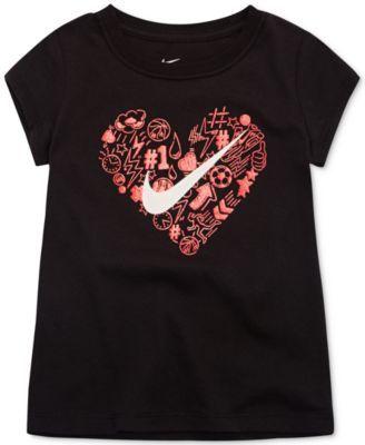 d43aa48cb Nike Doodle Heart-Print Cotton T-Shirt, Little Girls | hearts ...