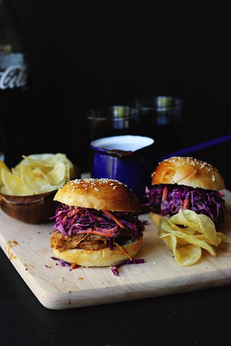 Smoky BBQ Pulled Pork Burgers // The Sugar Hit