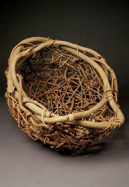 How To Weave A Basket Out Of Twigs : Ideas about willow weaving on pine
