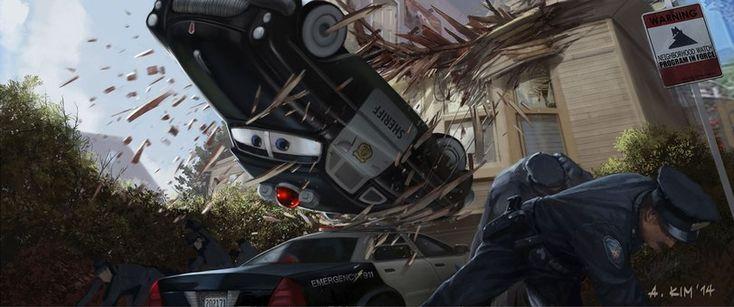 Ant-Man (фильм),Человек-муравей,Marvel Cinematic Universe,Кинематографическая вселенная Марвел,Marvel,Вселенная Марвел,фэндомы,концепт-арт,тачки,pixar,Andrew Kim