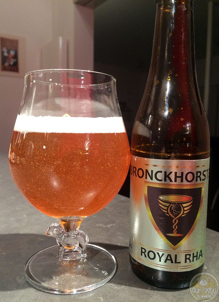 13-Jan-2015 :  Bronckhorster Royal Rha by Brouwerij Rodenburg. A Dutch IPA, with nice, but not overpowering bitterness and a good, fruity flavor. #ottbeerdiary
