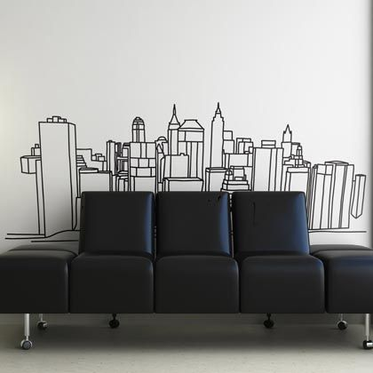 Créez une grande ouverture dans votre intérieur et profitez d'une agréable promenade sur les plus beaux toits new-yorkais grâce à de véritables décors en stickers muraux.
