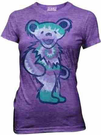 $19.99 - Grateful Dead - Tie Dye Bear Junior T-Shirt. Fitted style t-shirt with a tie dye dancing Jerry bear.