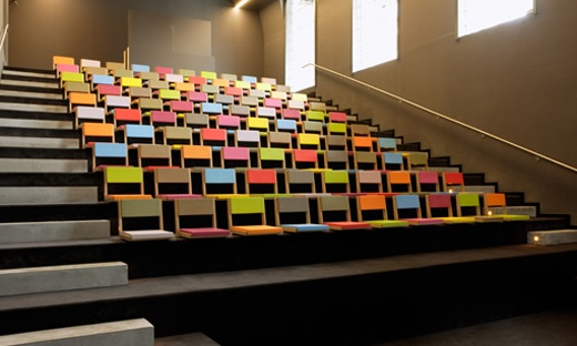 colorful auditorium seating by Quinze et Milan