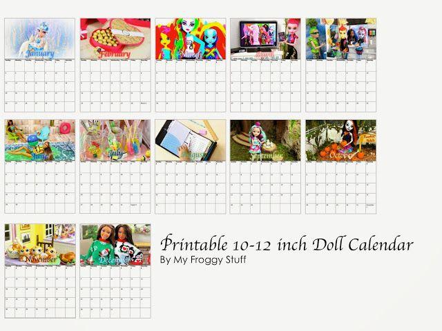 Dollhouse Photography Calendar : Best my froggy stuff prinibles vidios and photos