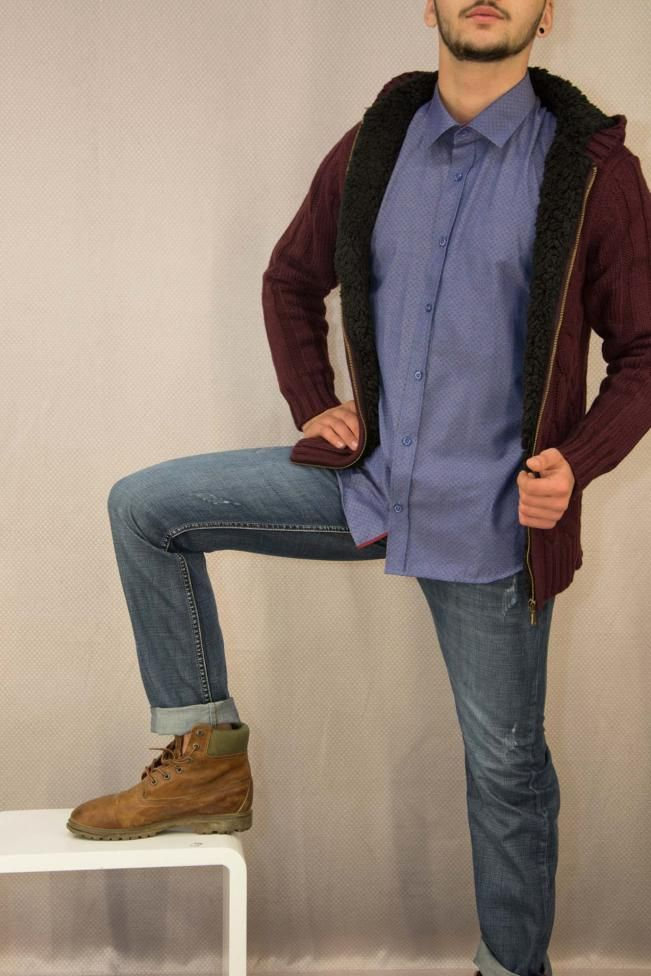 Ανδρικό πουκάμισο με τύπωμα  POUK-1652  Πουκάμισα > Άνδρας