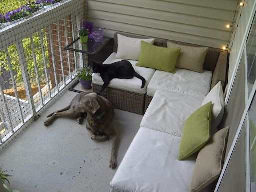 Good idea for cat proofing apartment loft pinterest for Apartment patio