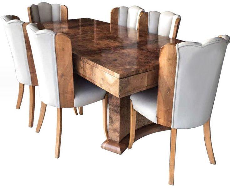 Art Deco 6 Seater Dining Suite