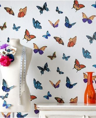 FlutterBy - Pearl features beautiful butterflies in a kaleidoscope of colors. These fabulous butterflies bring sunshine indoors whatever the weather
