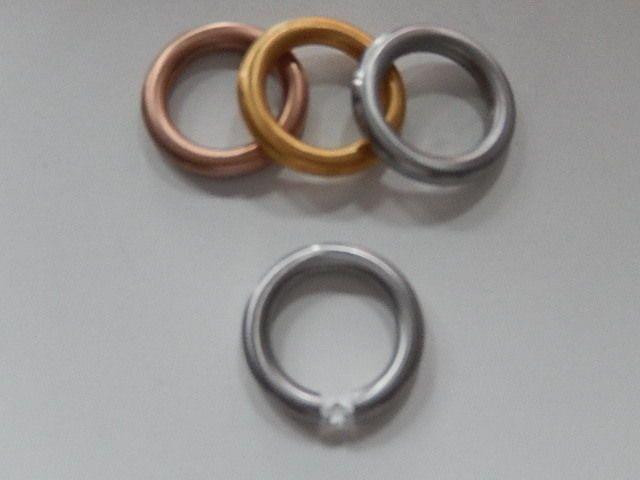Ring Edelstahl massiv 4mm Edelstahlring silber gold rosegold Stein Steine 16-20