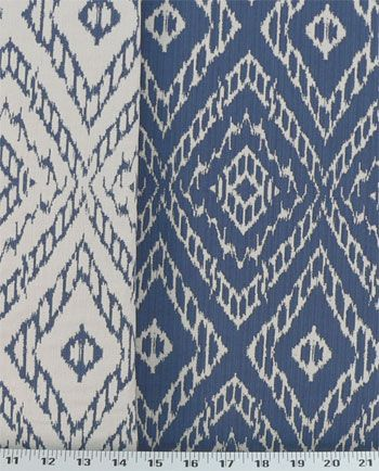 Strie Ikat Ultramarine | Online Discount Drapery Fabrics and Upholstery Fabric Superstore!