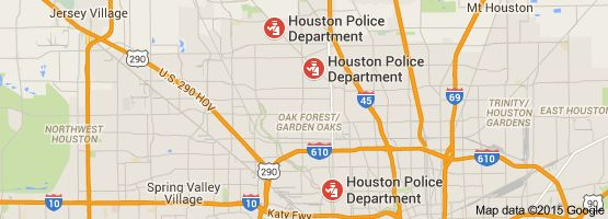 Map of non emergency police number houston