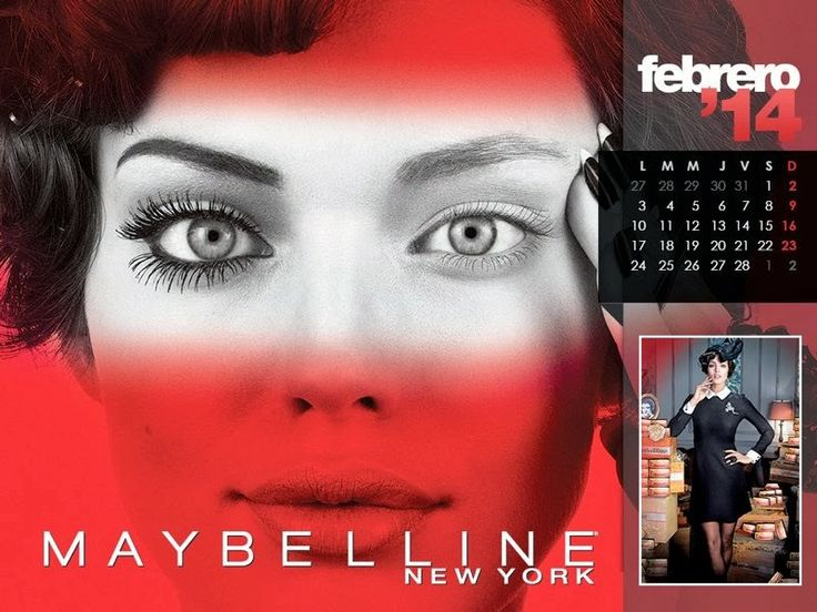 Maybelline Calendar 2014 featuring Hot Model Pictures magazine-photoshoot.Blogspot.com