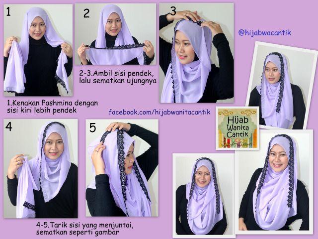 #hijab #lace #shawl #tutorial #stepbystep