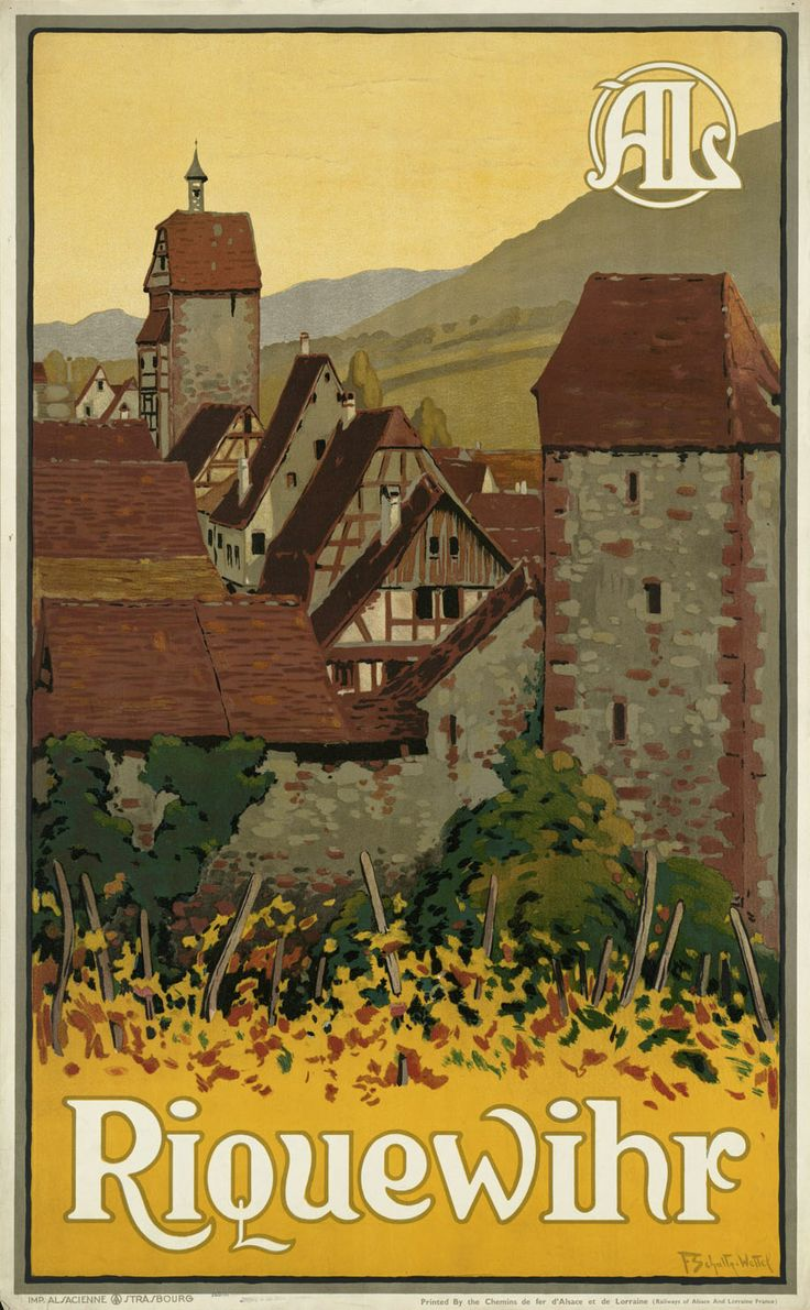 travel poster riquewihr published by the chemins de fer