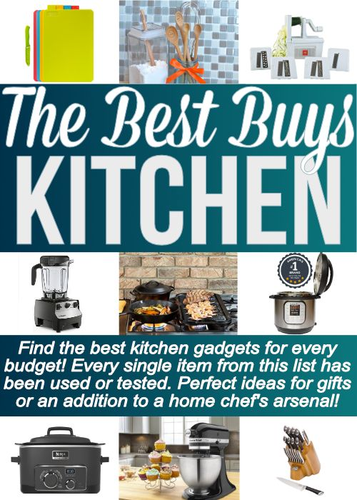 Great list of the best kitchen gadgets that you will actually USE! Everything from the best kitchen knives to the best kitchen gadgets under $20. This is a MUST SAVE list!