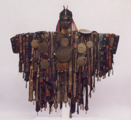 Traditional Shaman's Cloak, Central Asia  http://thestationspin.blogspot.com/2010/09/work-zone-under-construction.html