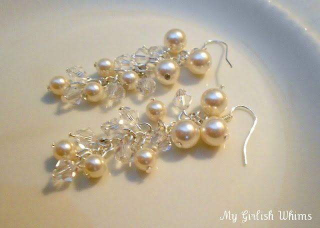 Jewelry Lessons: How to Create a Simple Loop and DIY Wedding Earrings | My Girlish Whims