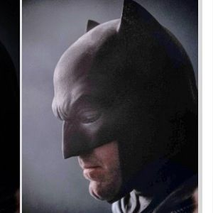 "DC Entertainment has released a closeup of Ben Affleck in costume from ""Batman v Superman: Dawn of Justice,"" an image that hidden among other photos and illustrations in a montage wall at Comic-Con International celebrating the 75th anniversary of the Dark Knight"
