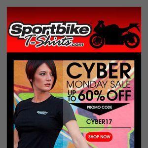 SportBikeTshirts.com Cyber Monday 2017 Sale! #sportsbike #motorcycle #sportbike #culture #graphic tee #teeshirt #shopping #bike #racing #Hayabusa #Suzuki SportBikeTshirts.com #sportbike #motorcycle #apparel #tshirt #graphic #sport #bike #tee #design #shirt #casual #promo #email