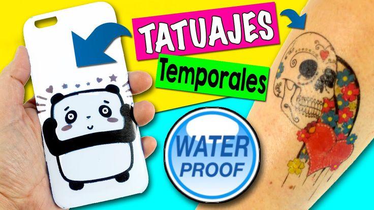 TATUAJES temporales caseros DIY * Cómo hacer Tatuajes Fáciles