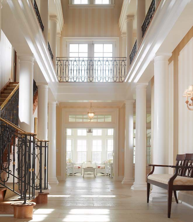Awesome Forecasted Trends Presents Stylish Interior Decoration Foyer With Columns