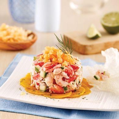 Tartare de crabe et crevettes nordiques - Recettes - Cuisine et nutrition - Pratico Pratique