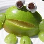 How cute are these apple frogs!