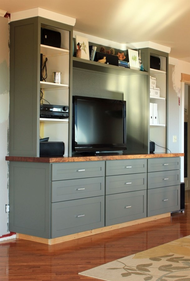 fetching sheetrock entertainment center. awesome DIY entertainment center builtins love the wood counter Love  console portion 65 best Media centers images on Pinterest Living room Interior The Best 100 Fetching Sheetrock Entertainment Center Image