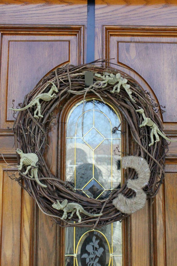 Dinosaur Birthday Wreath