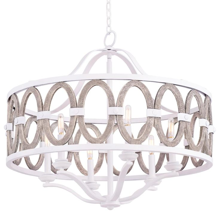 Driftwood entwined ovals chandelier