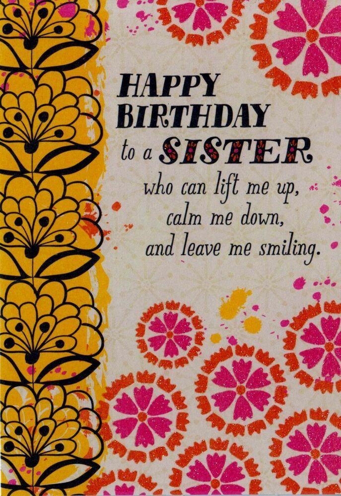 Hallmark Happy Birthday  Sister It/'s Your Birthday Greeting Card