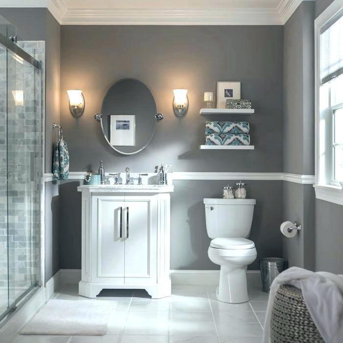 Grey Bathroom Paint Gray Bathroom Ideas Best Light Grey Bathrooms Ideas On White Bathroom Paint Grey Bathr… | Small Bathroom Colors, Grey Bathrooms, Bathroom Colors