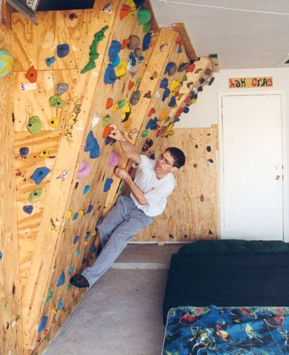 The Hahn s Homebuilt Climbing Wall  in our Garage. 17 Best ideas about Home Climbing Wall on Pinterest   Indoor