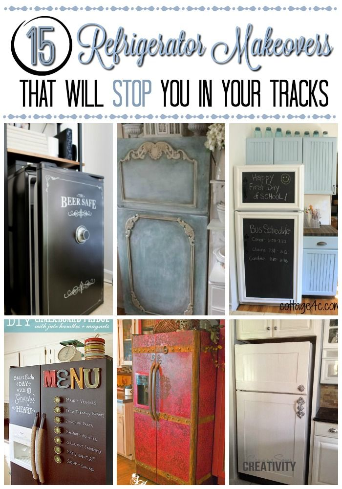 You HAVE to see these refrigerator makeovers! They are absolutely drool-worthy and totally something you could do in a weekend!