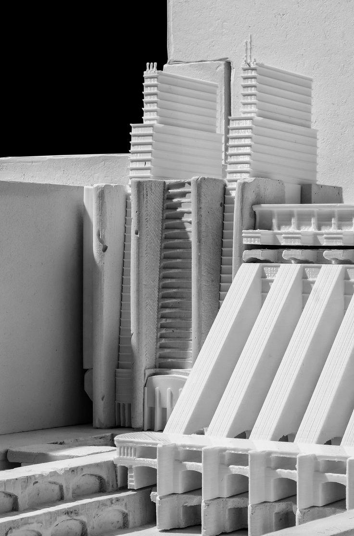 Antonio Sant'Elia - Città Nuova Cast plaster and 3D printing mixed model
