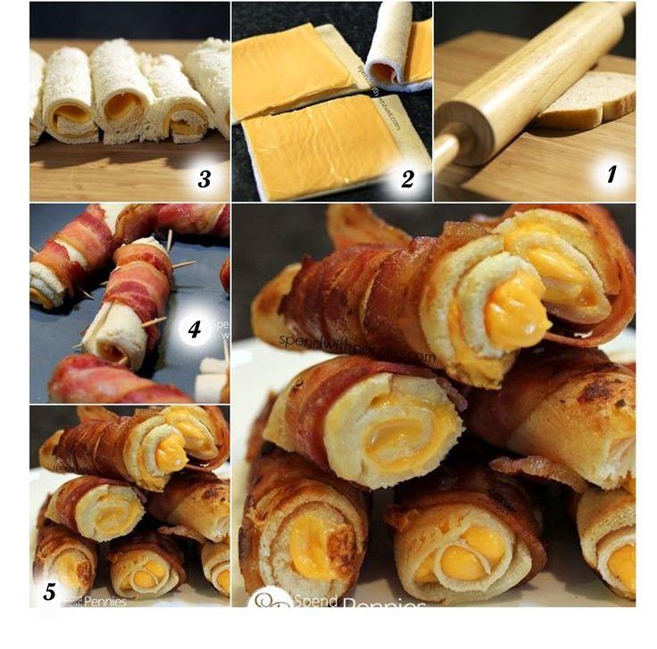 MENTŐÖTLET - kreáció, újrahasznosítás: Baconos-sajtos rolád