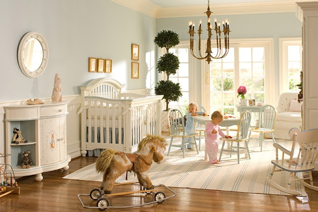 Both B and I had Beatrix Potter stuff as babies - want to use this theme in a nursery one day.  Love this 'specially the pony !!!