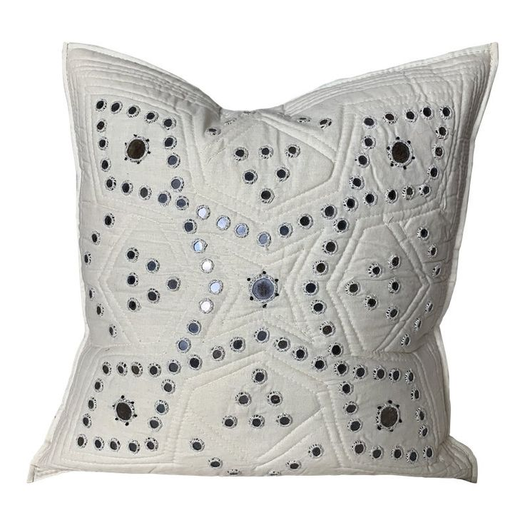 Handmade In Pakistan Embellished Pillow Cover Indian Pillows Pillows Pillow Covers