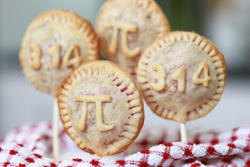 March 14~Pi day.  Pi Pie Pops!