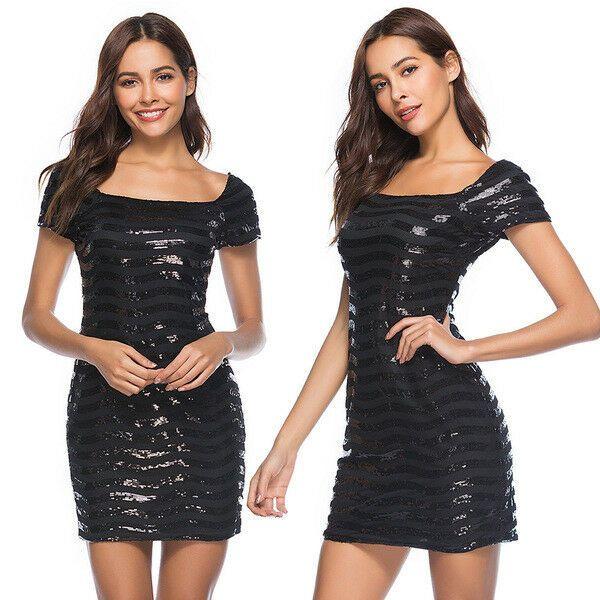 Elegante vestito abito lungo tubino nero strass corto slim morbido 4801  – Abiti…