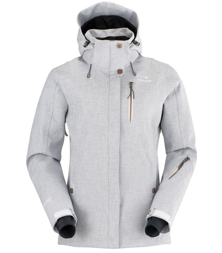 Eider Red Square Womens Ski Jacket in White Grey