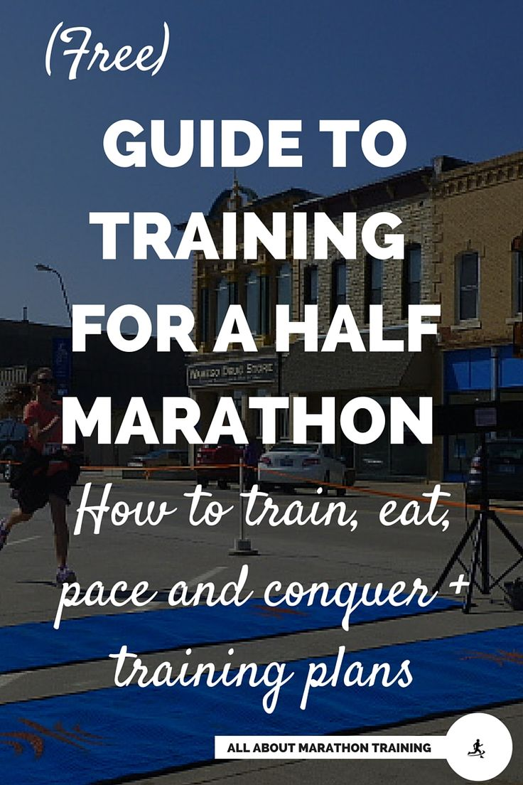 Your step-by-step guide to training for your half marathon. Free training plans, custom training, tips, information and how to run your best or funnest half marathon ever! #allaboutmarathontraining #halfmarathon