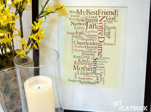 """How to create a """"wordle."""" It's such an easy, inexpensive, and thoughtful gift idea! Here are the steps to create your own word cloud DIY."""