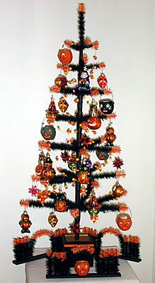 feather trees inc trees for all seasons halloween feather tree - Black Halloween Tree